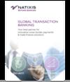 Leaflet pour le Sibos présentant les offres de Natixis, Global Transaction Banking